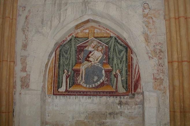 Fresko in der Deutschordenskirche zu Graz.
