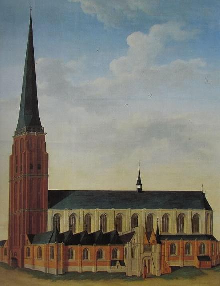 Leiden, Sint Pieterskrek Quelle: http://tagrijn.wordpress.com/2012/02/23/in-1512-stortte-de-toren-in/ (11.07.2013)